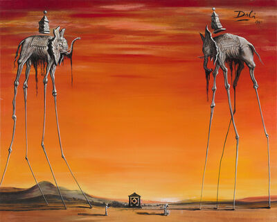John Myatt, 'Elephants in the Style of Salvador Dalí', 2020