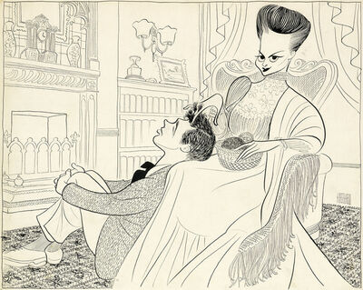 "Al Hirschfeld, '""Candida."" Published in The New York Times, April 20, 1952'"