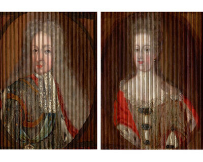 Gaspar Antoine de Bois-Clair, 'Double Portrait of King Frederik IV and Queen Louise of Mecklenburg-Güstrow of Denmark', ca. 1700