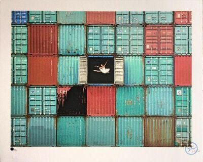 JR, 'The Ballerina Jumping In Containers, Le Havre, France', 2018