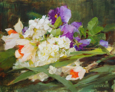 Kathy Anderson, 'White Hydrangea with Daffodils', 2020