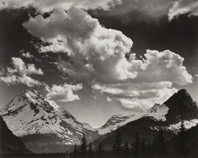 Ansel Adams, 'Noon clouds, Glacier Park, Montana', 1942
