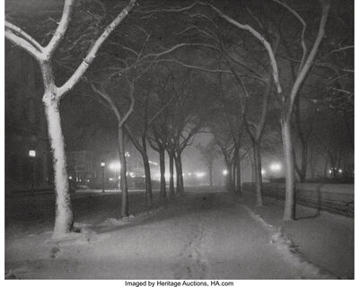 Alfred Stieglitz, 'An Icy Night', 1898