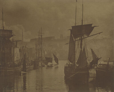 Frank Meadow Sutcliffe, 'Whitby Harbor, The Dock End', Circa 1890