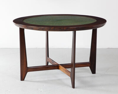 Sergio Rodrigues, 'Round Game Table with Reversible Green Felt Top', 1960s