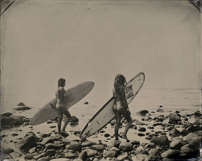 Joni Sternbach, '15.08.18 #7, Nude Surfers (Montauk, NY)', 2015