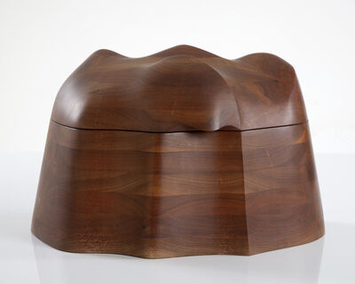 Wendell Castle, 'Unique jewelry box in stack-laminated black walnut', 1973