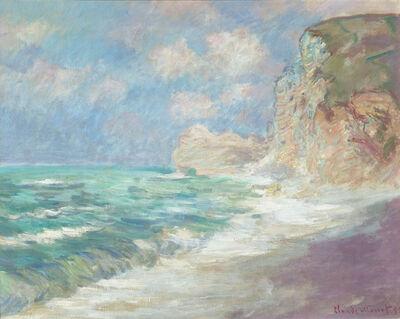 Claude Monet, 'Falaise et Porte d'Amont par Gros Temps', 1886