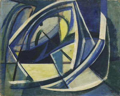Ward Jackson, 'Blue Composition ', 1950