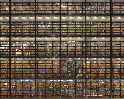 Reinhard Gorner, 'Shining Wall of Books, Beinecke Library, Yale University, New Haven', 2017