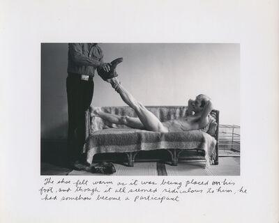 Duane Michals, 'The Shoe Felt Warm', c. 1976