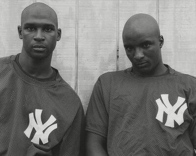 Andrea Modica, 'Kraig Hawkins and Richard Turrentine, Oneonta Yankees, 1992', 1992