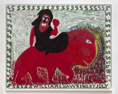 William Hawkins, 'Untitled (Figure on animal)', n.d.