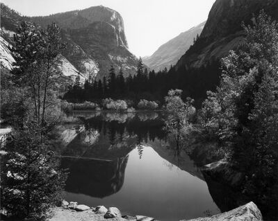 Ansel Adams, 'Mirror lake, Mount Watkins, Yosemite National Park', 1937