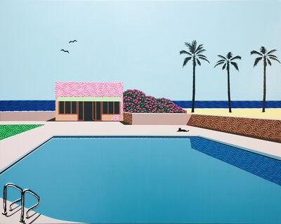 Natan Elkanovich, 'Two birds in love - landscape painting', 2020