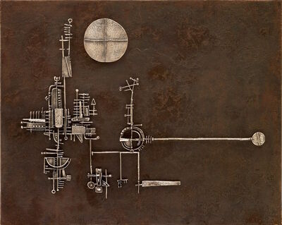Arnaldo Pomodoro, 'La luna, il sole, la torre', 1955