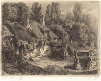 Eugène Bléry, 'La chaumière au puits (Cottage with Well)', published 1849