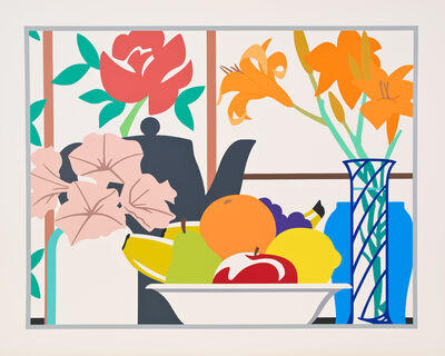 Tom Wesselmann, 'Still Life with Lilies, Petunias and Fruit', 1988