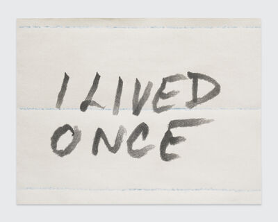 Sean Landers, 'I Lived Once', 2017