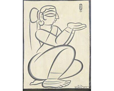 Jamini Roy, 'Seated Woman', n/a