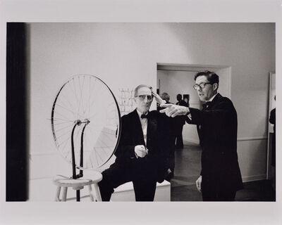 Julian Wasser, 'Duchamp with Walter Hopps Pointing, Duchamp Retrospective, Pasadena Art Museum', 1963