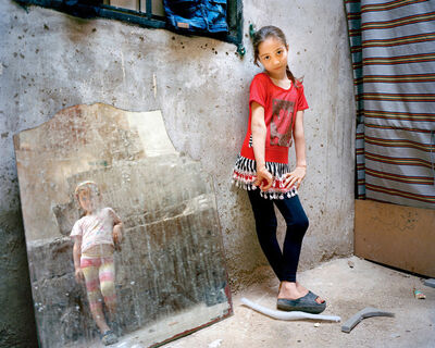 Rania Matar, 'Amal 9, Zahra 5 (girl in the mirror), Beirut', 2014