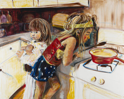 Christine Ferrouge, 'Wonder Woman Is Making My Lunch', 2017
