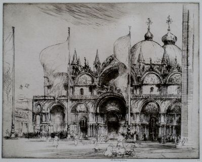 Donald Shaw MacLaughlan, 'St Mark's, Venice', 1922