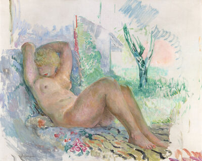 Henri Lebasque, 'Marinette Endormie', 1934-1935