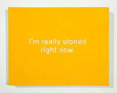 Lisa Levy, 'The Thoughts In My Head #55 (...really stoned...)', 2018