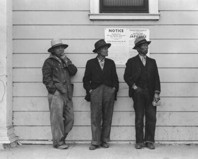 Dorothea Lange, 'Waitingfor the Truck,', 1942