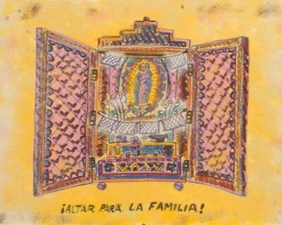 Frank Romero, 'Altar la Familia', 1992