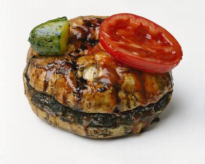 Sharon Core, 'Hamburger with Pickle and Tomato Attached', 2018
