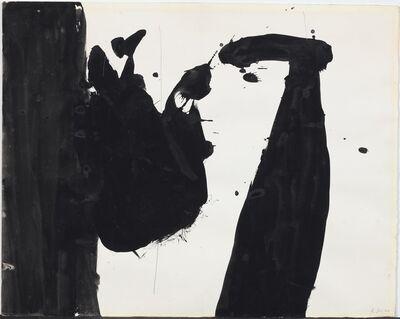 Robert Motherwell, 'In Black + White', 1960
