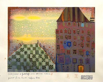 Friedensreich Hundertwasser, 'Gespräch mit Jenseits (Conversation with the Afterlife)', 1987