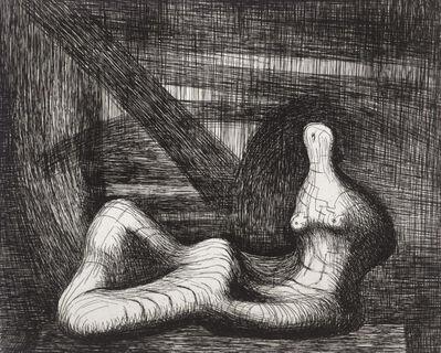 Henry Moore, 'Reclining Figure Piranesi Background III', 1979