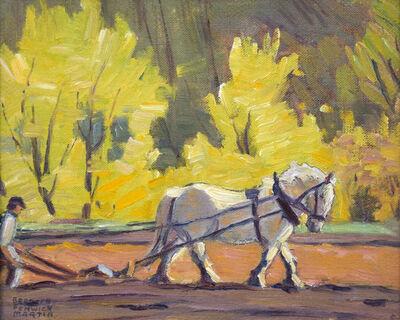 Bernice Fenwick Martin, 'Spring Ploughing Near Lambton'