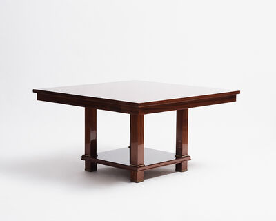 Jacques Adnet, 'Large Two-Tier Square Table (One of Two)', 1955