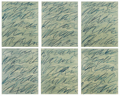 Cy Twombly, 'Roman Notes 1-6', 1970