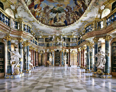 Massimo Listri, 'Wiblingen Abbey Library, Germany | World Libraries', 1994