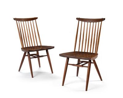 """George Nakashima, 'A pair of George Nakashima for Nakashima Studios """"New"""" chairs'"""