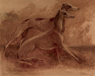 LeRoy Neiman, 'Greyhounds', 1985