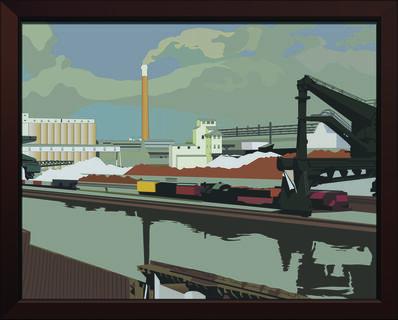 "Alain Bublex, 'Paysage 139 (ombre de Charles Sheeler, ""American Landscape"")', 2014"