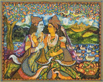Jayasri Burman, 'Draupadi and Arjun', 2017