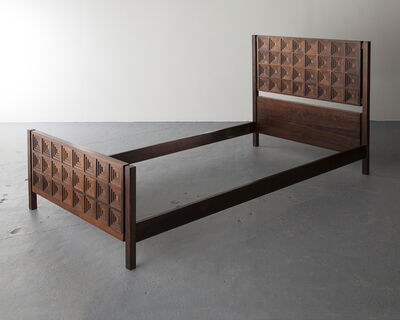 Joaquim Tenreiro, 'Single Bed with Diamond-patterned Headboard', 1969