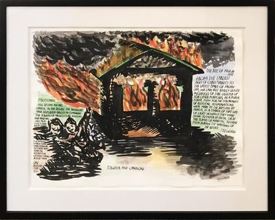 Raymond Pettibon, 'House on Fire', 2003