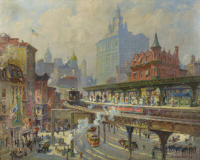 Colin Campbell Cooper, 'Chatham Square', 1919