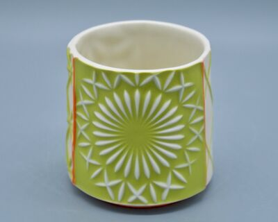 Kelly Justice, '3.Chartreuse Cup with Orange Accents', 2021