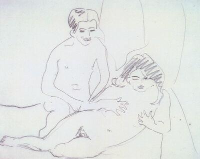 Ernst Ludwig Kirchner, 'Nacktes Liebespaar', 1909