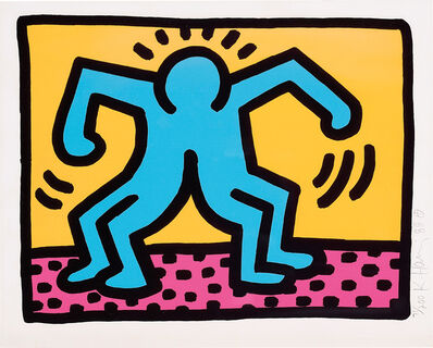 Keith Haring, 'Pop Shop II: one plate', 1988